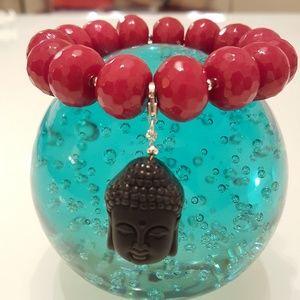 Buddha Lovers Bracelet, Red Jade Bracelet.